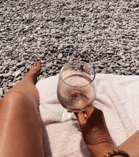 girl, wine and sunkissed