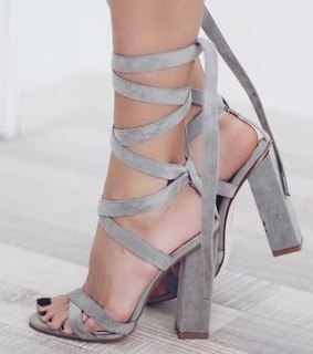 pumps, fashion and grey