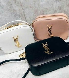 purse, white and YSL