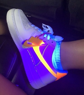 shoes, sneakers and rainbow
