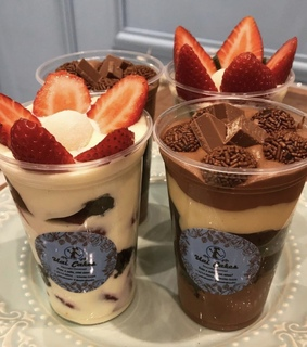 strawberry, dessert and sweets