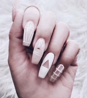 nails, beautiful and lady