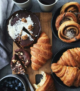 croissant, french and food