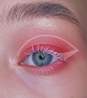 pink lashes, makeup and eye liner