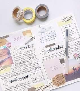 bujo, notebook and create