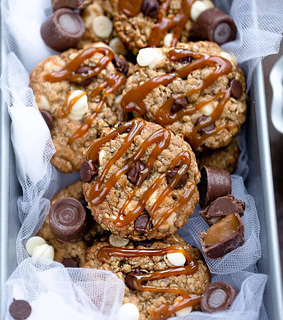 pecan cookies, chocolate chip cookies and chocolate