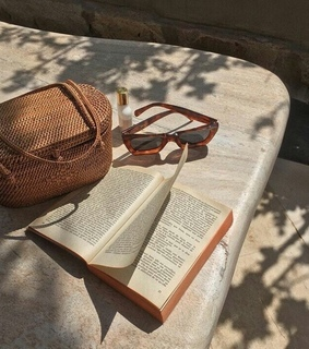 panier, book and beige