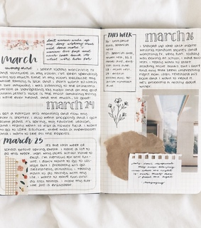 plans, march and bullet journal