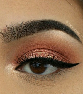makeup, brown and styles