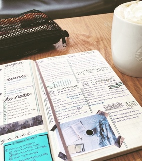 bullet journal, plans and week