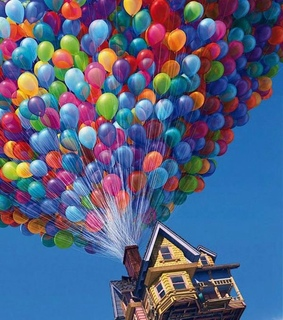 balloons, love and colors