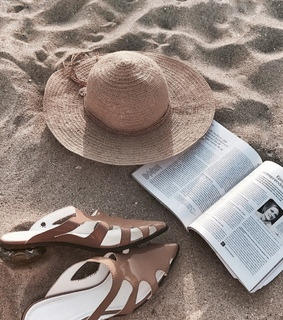 summer, hat and beach