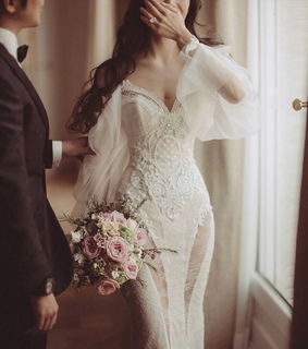 bridal, wedding dress and wedding