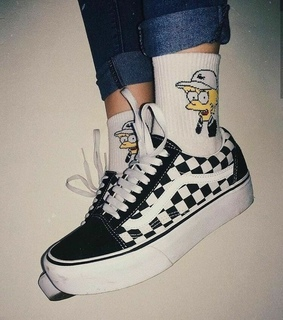 simpson, vans and girl