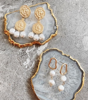 gold, accessories and earrings