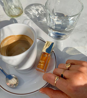 coffee, chanel and croissant