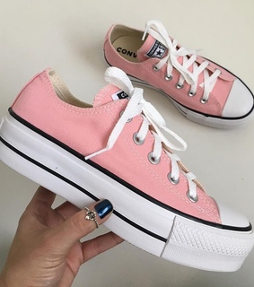 pink, converse and all star