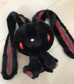 goth, black and plushie