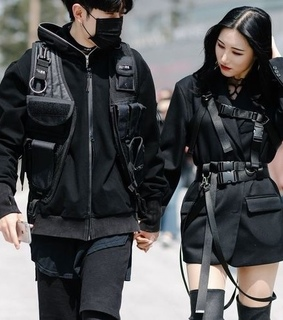 style, couple and asian