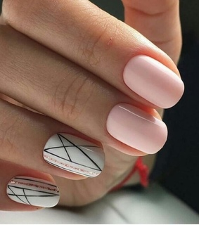 girl, lines and nails