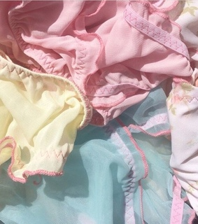 yellow, pink and fabric