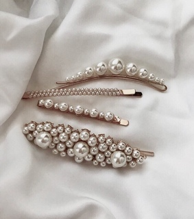 hair clips, hair and jewelry