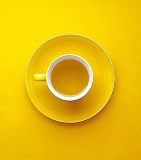 yellow, cup and color