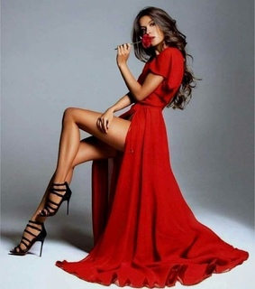 red dress, glam and fashion
