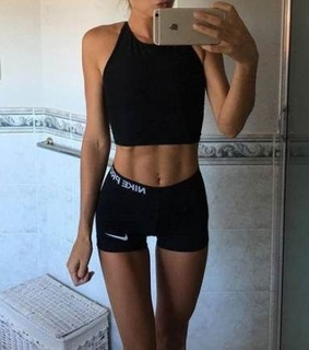 black, fitness and style