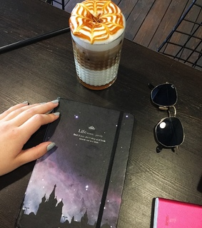 coffee, notebook and study