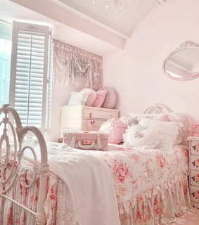 rose, room and cushion