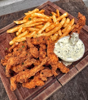 tender, French Fries and crispy