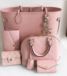 pink, LV and chanel