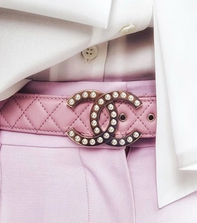 pink chanel, belt and fashion
