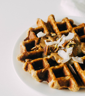waffle, breakfast and food