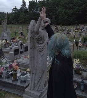 graveyard, statue and edgy
