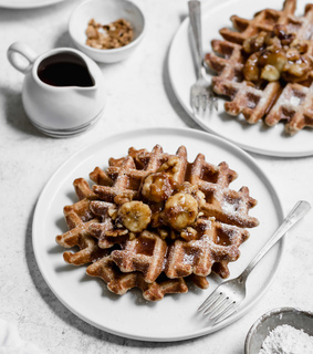 waffle, breakfast and sweet