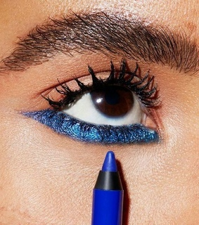 makeup, liner and blue