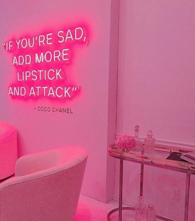 pink and neon
