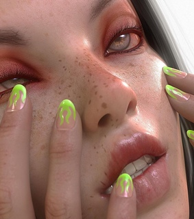 acid, nails and face