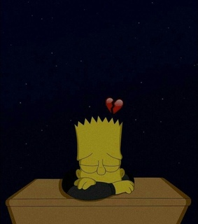 stars, bart simpson and heartbroken