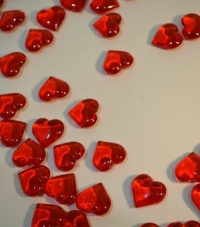glass, red and hearts