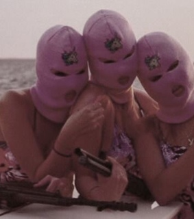 girls, pink and mask