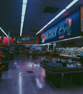 neon, 80s and shopping