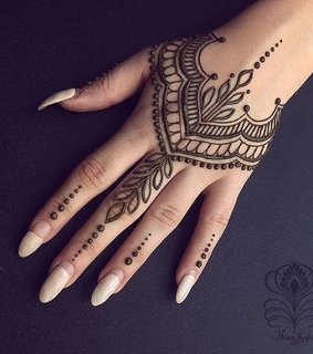 brown and henna