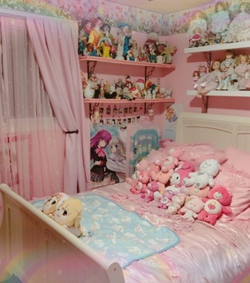 bedroom, plush and cute