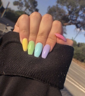 girl nails, green and nail art