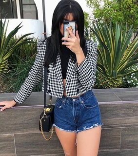 cute, gingham and jacket