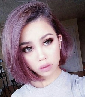 pink, inspo and short hair