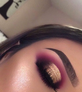 makeup, brows and eyes